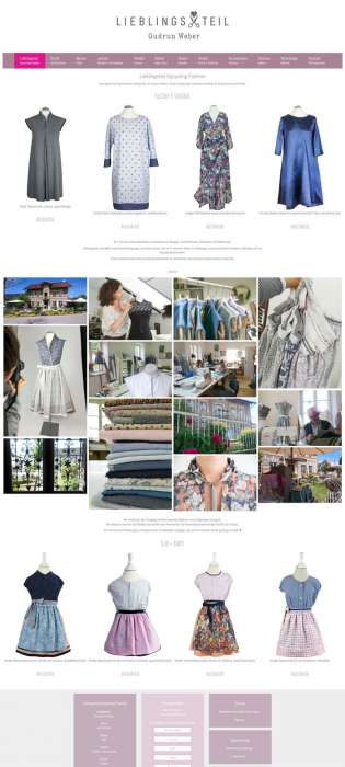 Lieblingsteil Upcycling Fashion Webseite